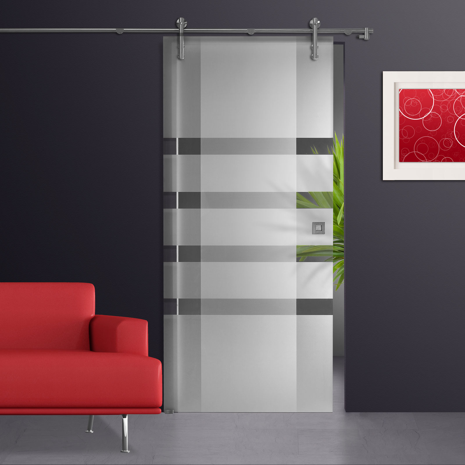 glasschiebet r klarglas mit dekor beidseitig s900 ebay. Black Bedroom Furniture Sets. Home Design Ideas