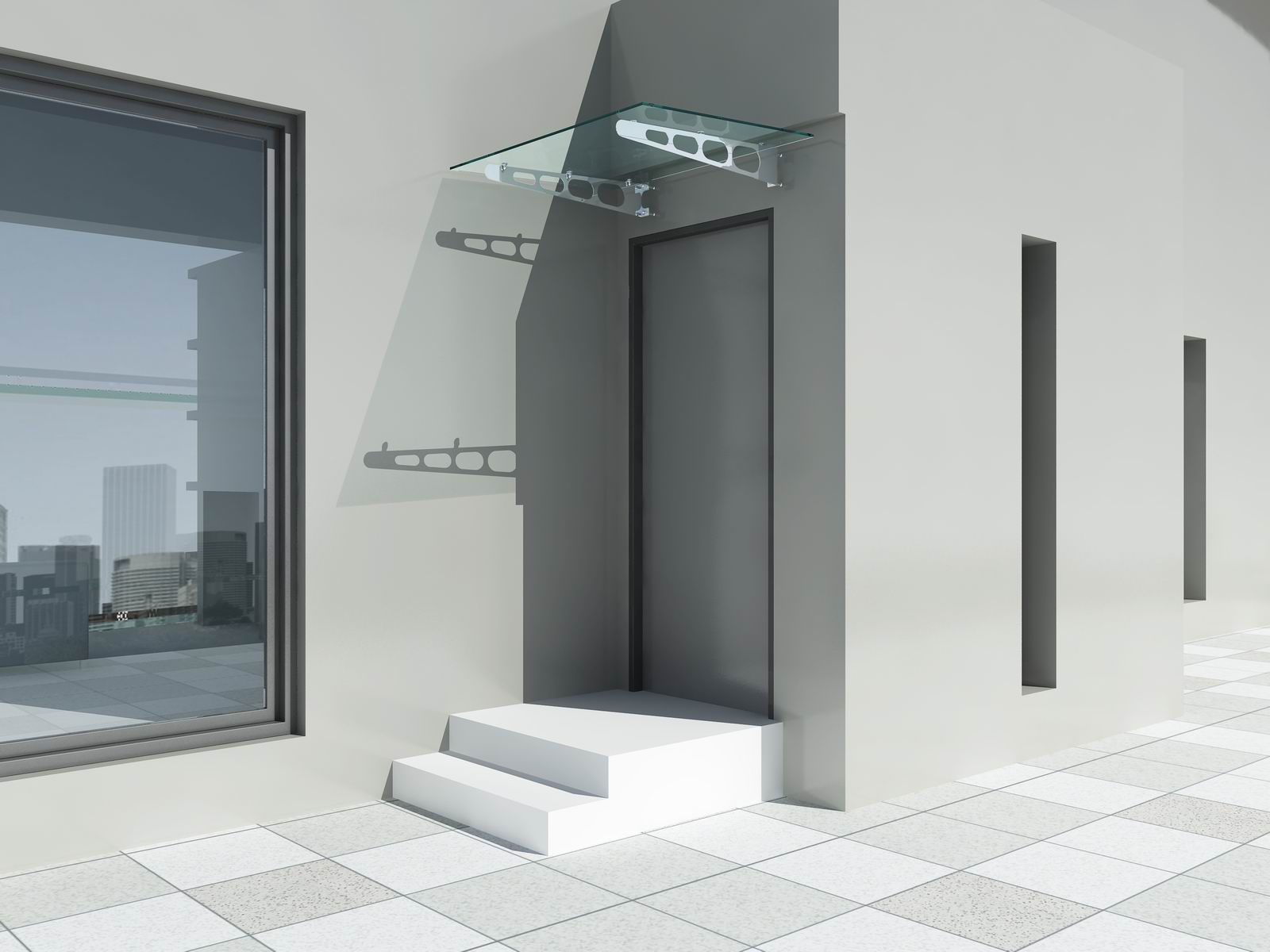 glasvordach vordach glas haust r dach vd02 ebay. Black Bedroom Furniture Sets. Home Design Ideas