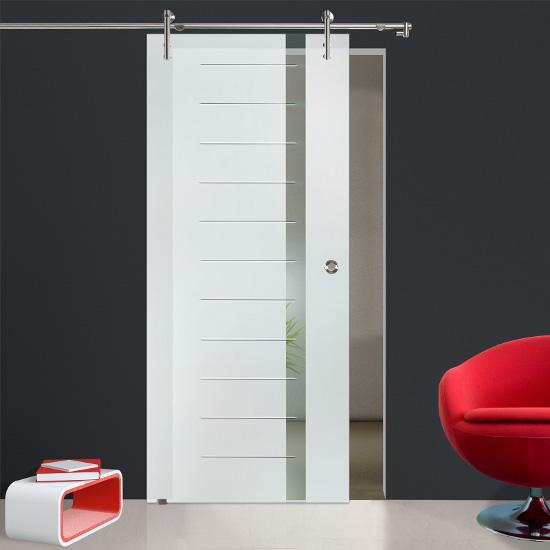 glasschiebet r klarglas v1000e2007 gm mit griffmuschel edelstahl ebay. Black Bedroom Furniture Sets. Home Design Ideas